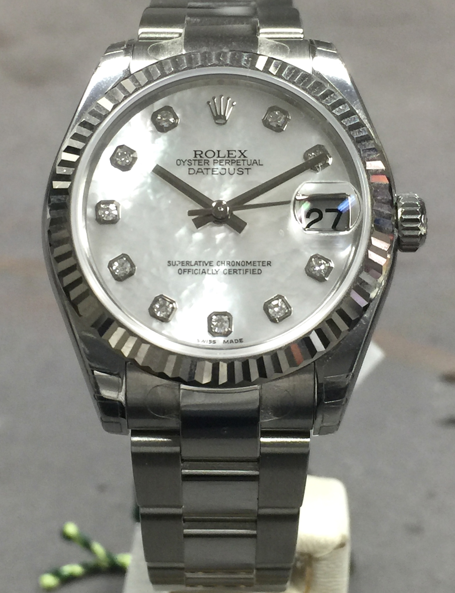 New Rolex Datejust 178274 Midsize 31 Mm Steel Oyster