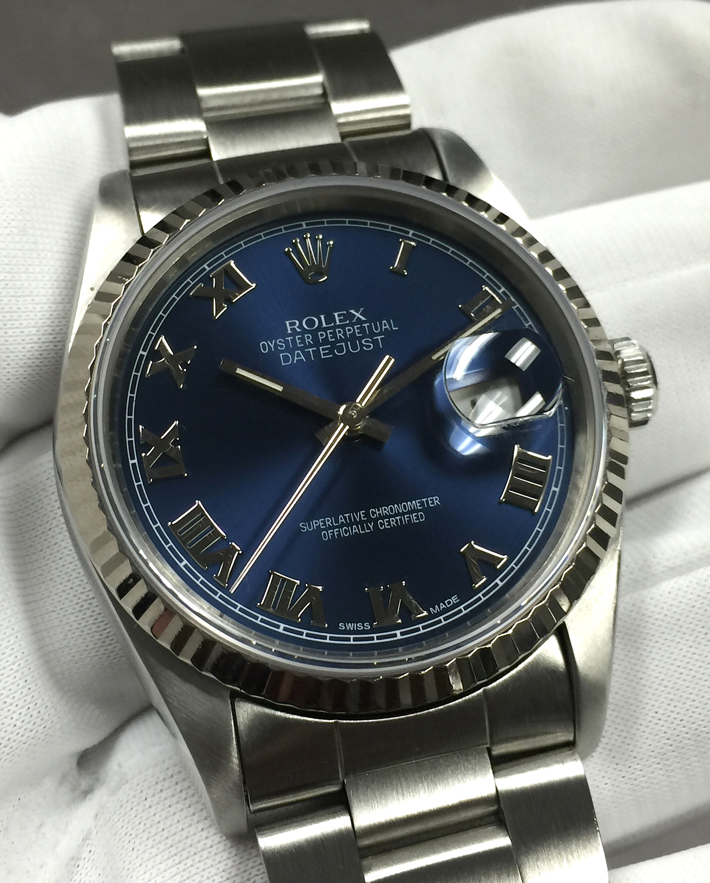 Rolex Datejust Blue Dial 36mm