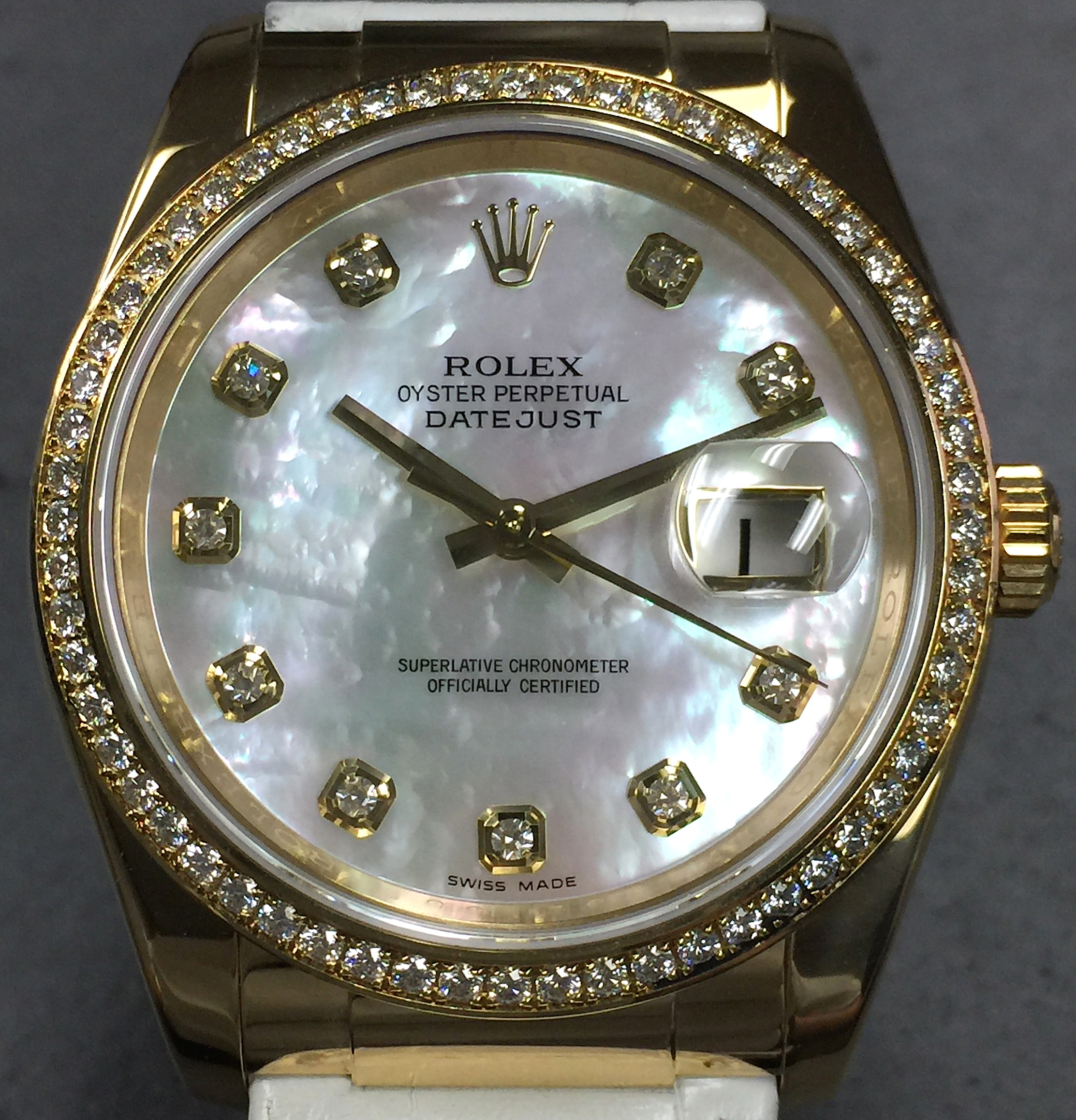 Rolex Ladies Datejust 116188 36mm 18k Yellow Gold Factory