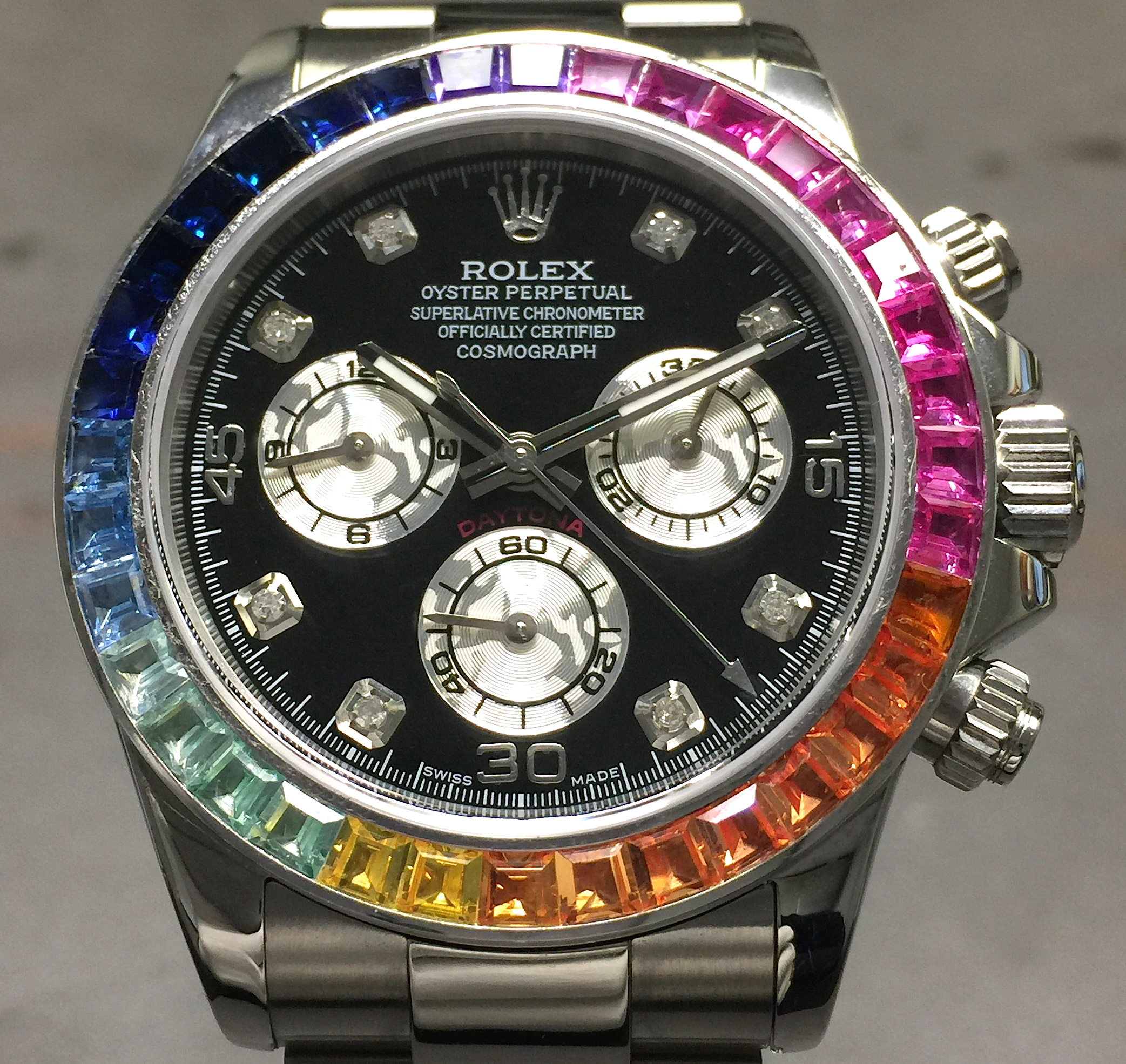 Rolex Daytona Cosmograph 40MM 116520 Steel Black Diamond