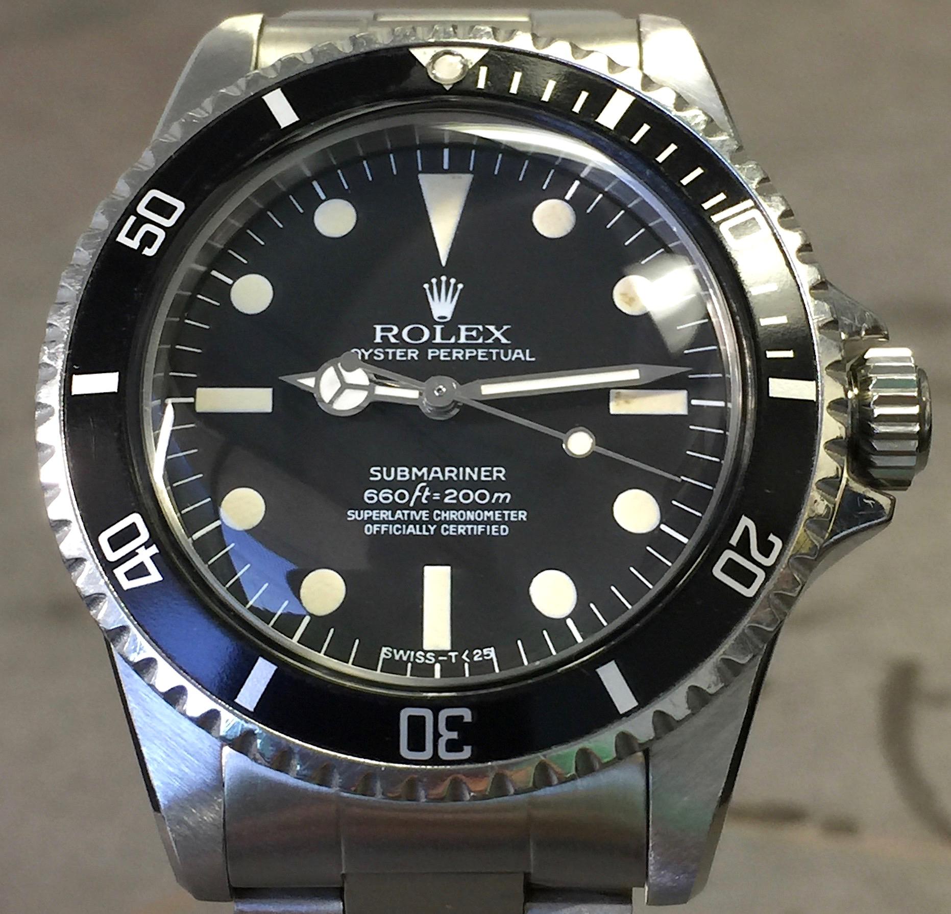 Vintage Rolex Submariner 5512 Black Dialbezel Pointed Crown Guard