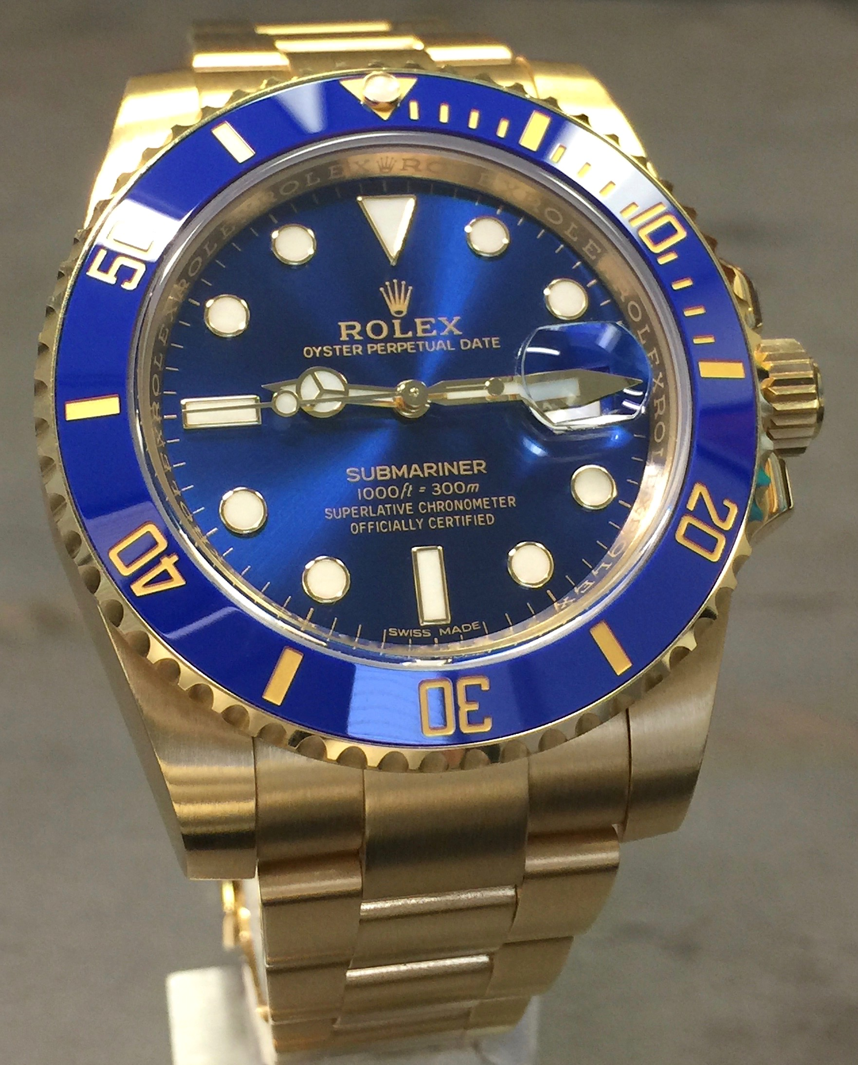Rolex Submariner Blue Ceramic