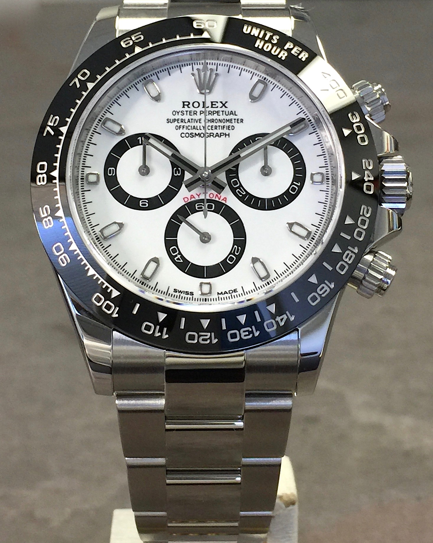 rolex ceramic daytona cosmograph 116500 steel white dial. Black Bedroom Furniture Sets. Home Design Ideas