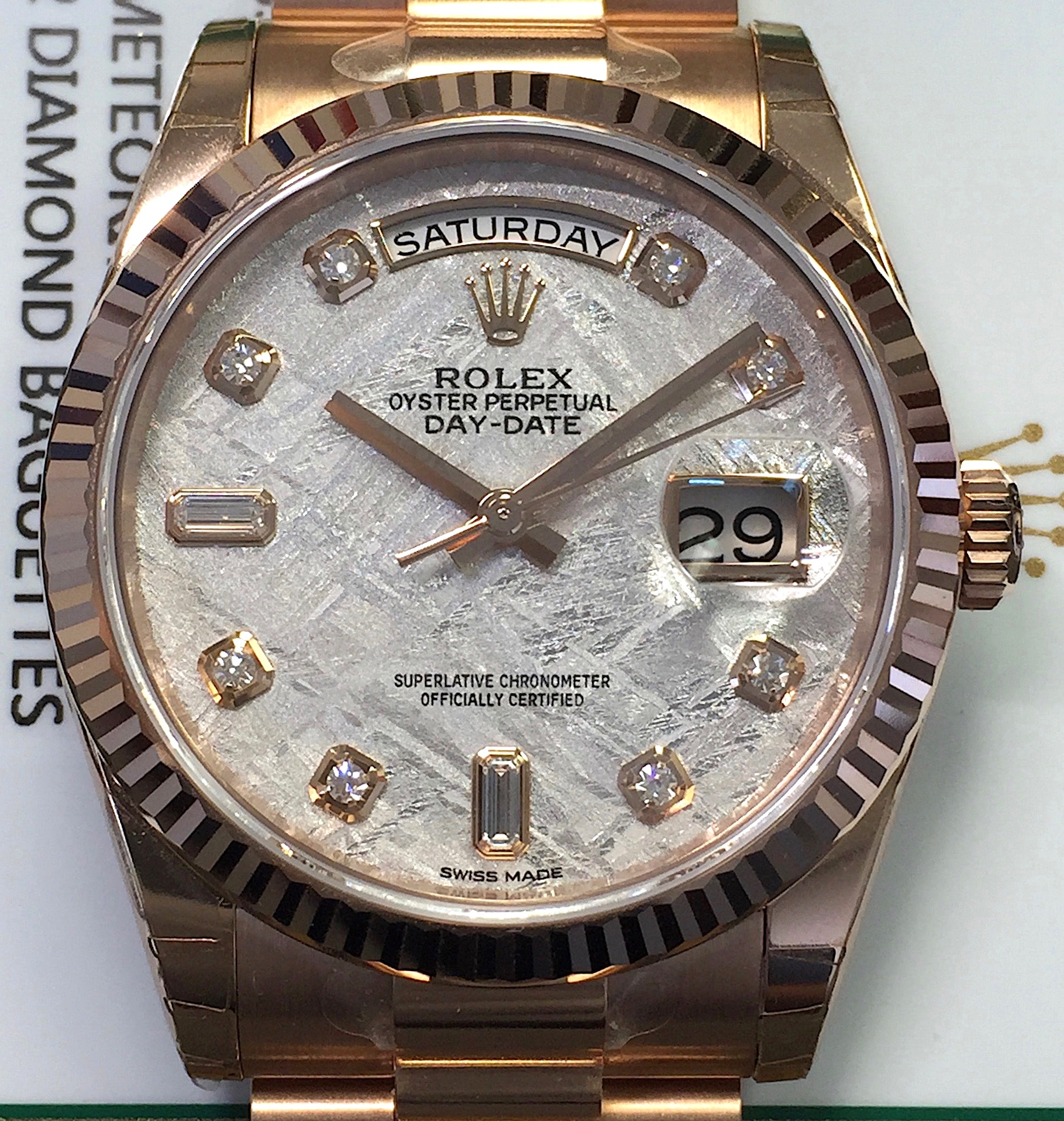 New Rolex Day Date President 36mm 118235 18k Rose Gold