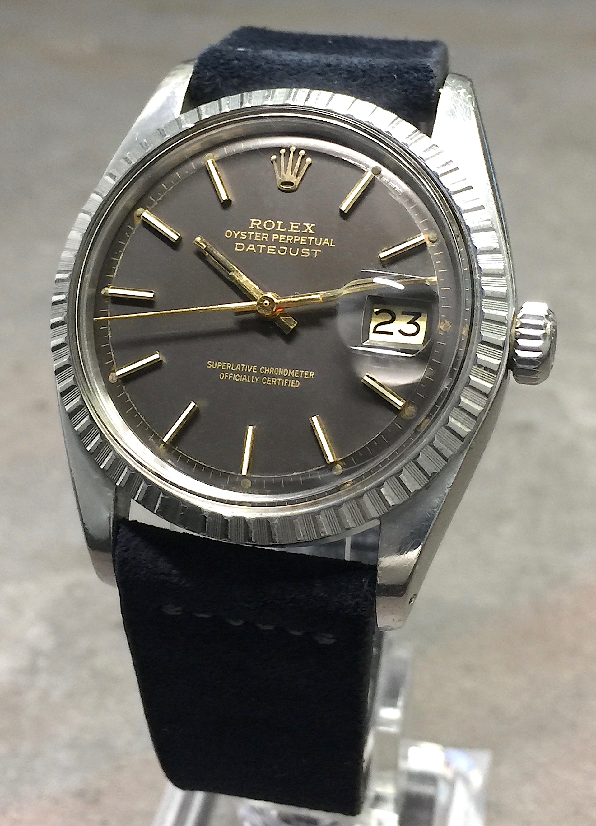 vintage rolex datejust mens 1603 36mm stainless steel