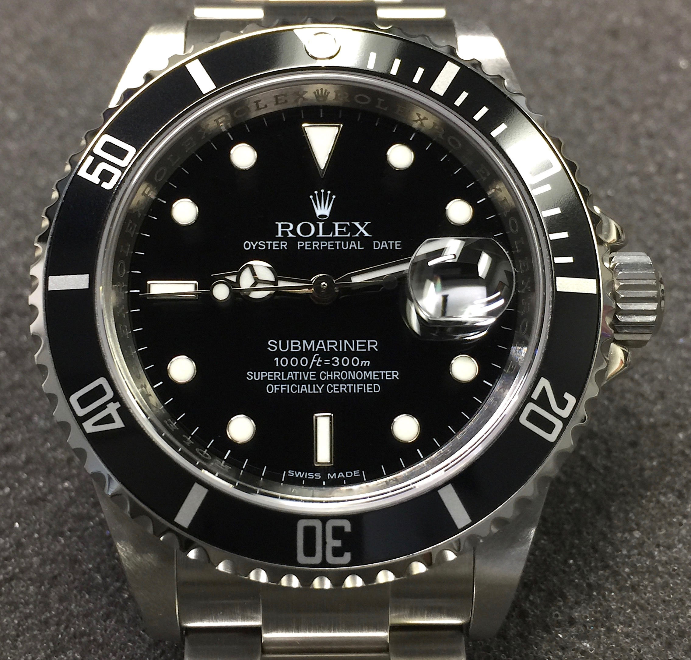 7fb1c360afd0 Rolex Submariner Date 40MM 16610 Stainless Steel Black Dial   Bezel –  Unpolished Mint Condition