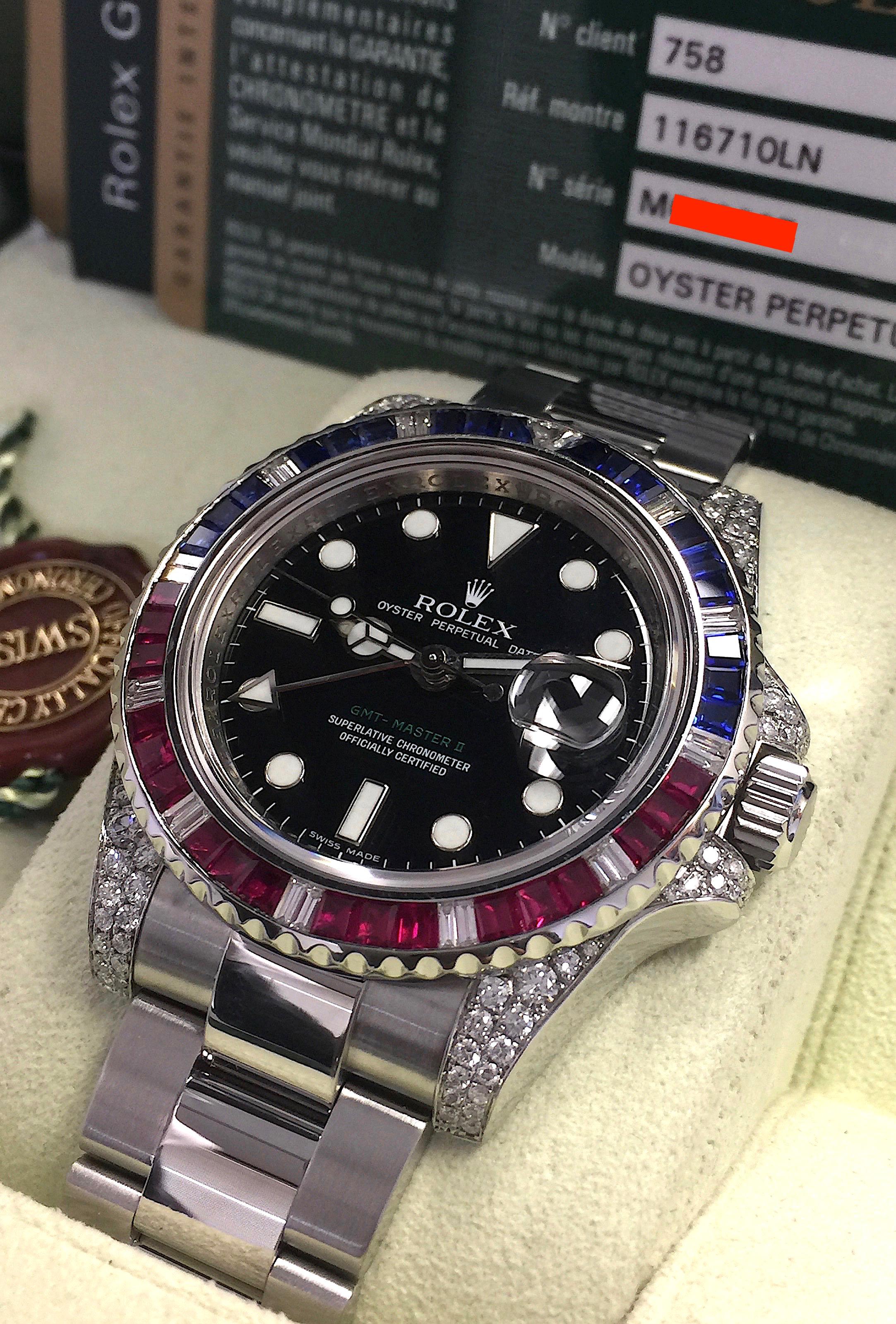 Rolex Gmt Master Ii 40mm 116710ln Stainless Steel Sapphire