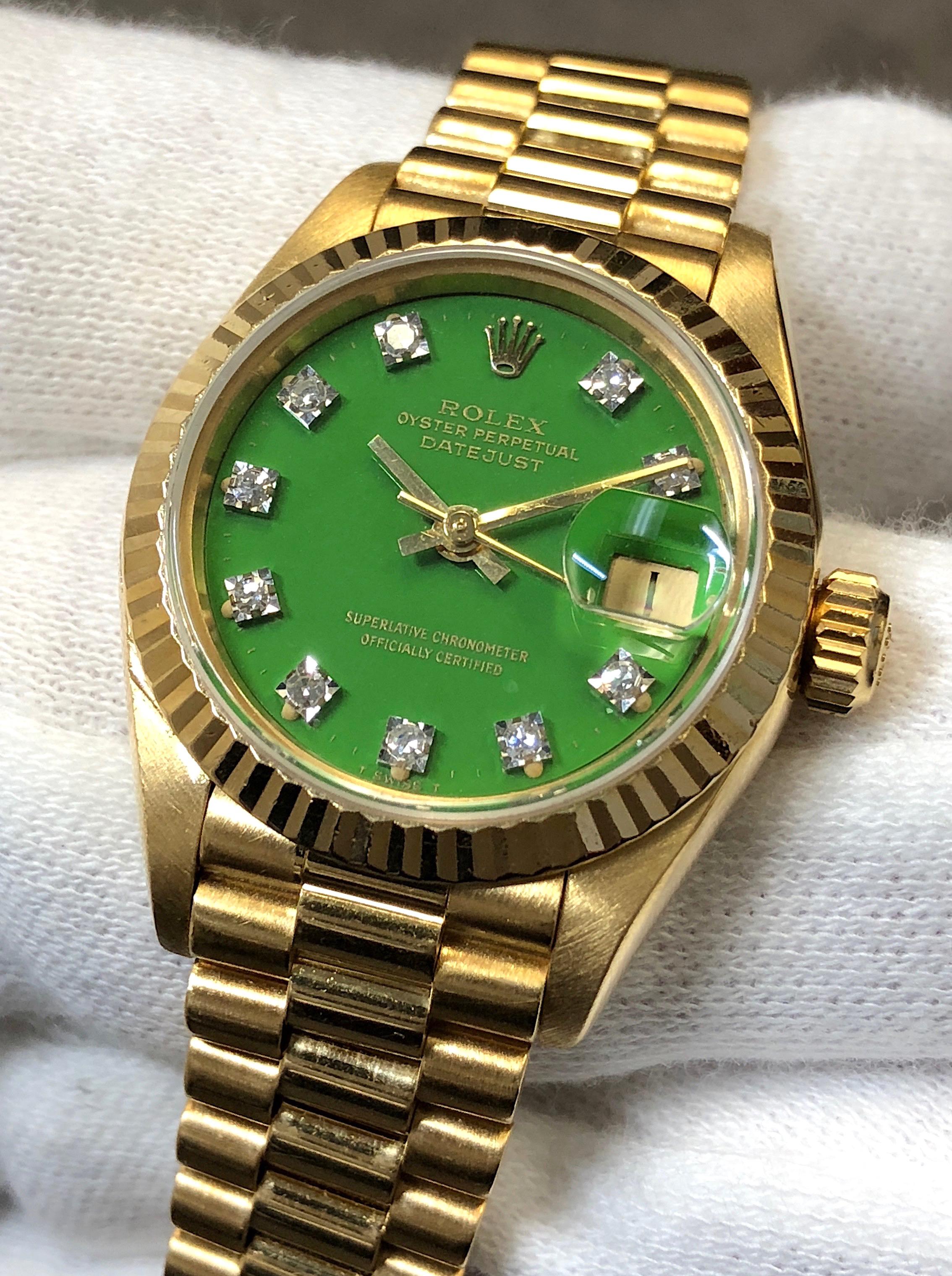 Rolex Ladies Datejust President 26MM 69178 18K Yellow Gold