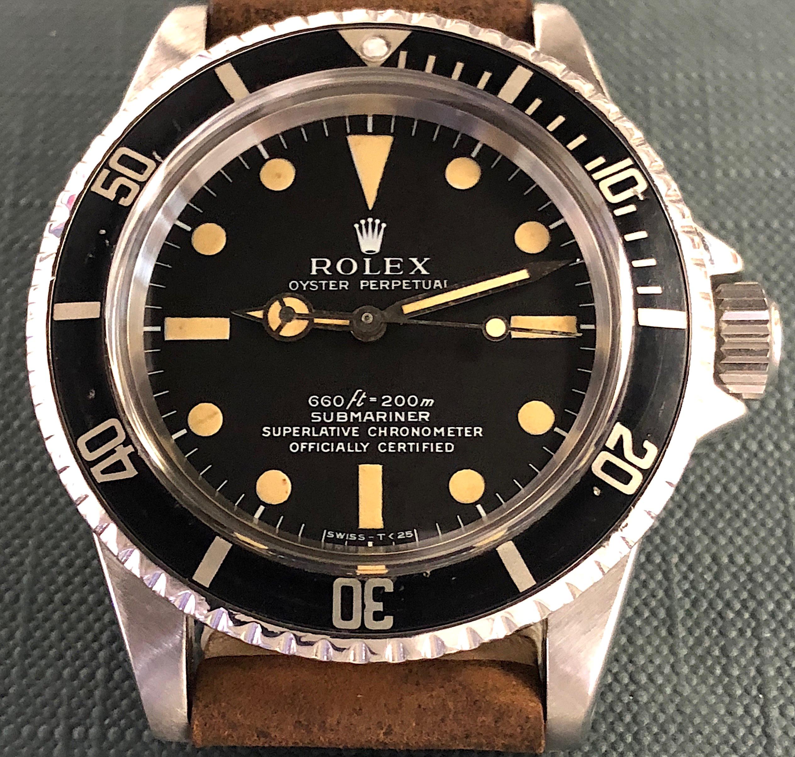 Vintage Rolex Submariner 5512 Steel Four Line Matte Dial Bezel W
