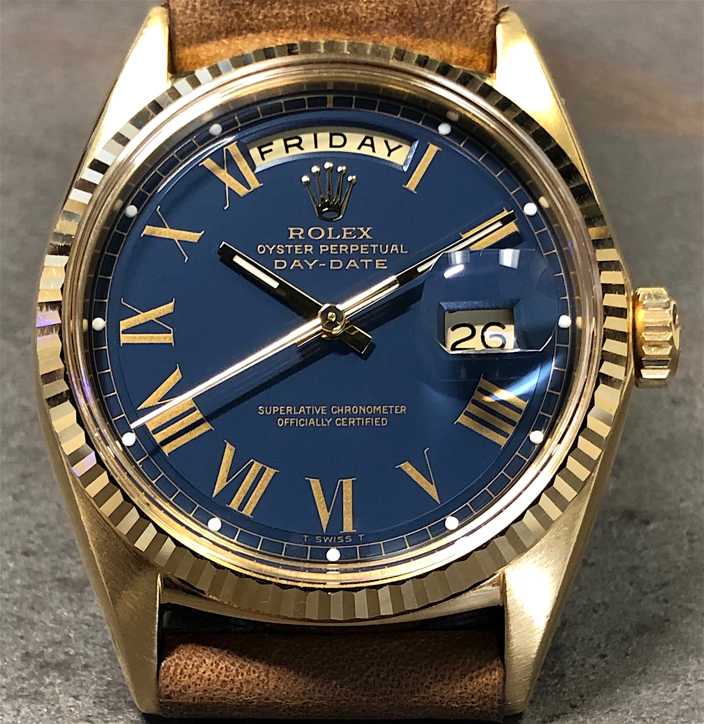 Vintage Rolex Day Date President 1803 18k Yellow Gold Rare